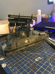 Italeri Paint Chart Wip Italeri 1 35 M4a3 Sherman With Calliope Modelmakers