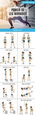 Power Of 10 Workout Chart Power 10 Leg Workout Ideal Me