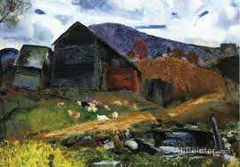 george wesley bellows paintings for old barn in shady valley