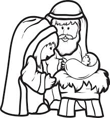 Our bible coloring sheets and bible pictures may be used by parents, teachers, churches and nonprofits at home or in the classroom. Printable Mary Joseph Baby Jesus Coloring Page For Kids Jesus Coloring Pages Nativity Coloring Nativity Coloring Pages