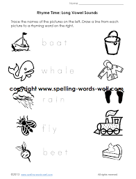 Kindergarten Phonics Worksheetskindergarten phonics worksheet - long vowel sounds