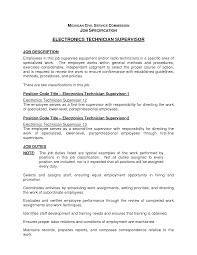 Computer Technician Job Description Resume Best Photos Of Job Titles For Electronic Technicians Computer 18