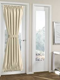 RHF Blackout French Door Curtains - Thermal Insulated Door Panel 54W by 72L  Inches-Beige