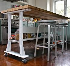 Kitchen Island On Wheels With Seating Pictures regard to Small Kitchen