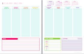 Weekly Calendars To Print 2015 2015 Free Printable Weekly Planner Templates List Daily