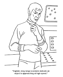 Star Trek Coloring Pages Mr Spock Warns The Captain That Danger Is