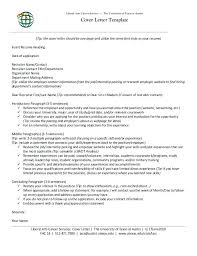 statement of interest cover letter liberal arts career services o the university of at cover