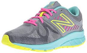 new balance shoes for girls. new balance girls\u0027 kj200v1 running shoes, grey/green, 10.5 m us little shoes for girls 4