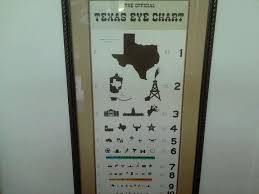 Texas Eye Chart Too Funny In 2019 Texas Quotes