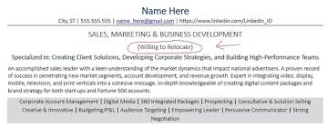 How To Mention Relocation In Resume Quora