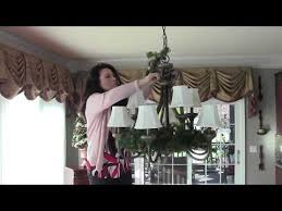 decorate a holiday chandelier for easy how to