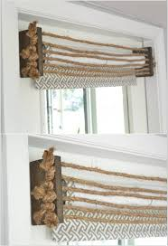 make a nautical valance with wood pieces and rope