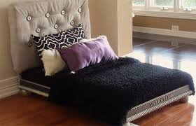 luxury dog bed furniture. Modern Dog Bed With Fabric Covered Headboard. Here Is A Complete Modern Dog  Bed Set That Even Adorned Stylish Fabric Covered Headboard. Luxury Furniture D