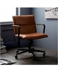 leather antique wood office chair leather antique. West Elm Cooper Mid-Century Office Chair, Leather, Old Saddle Nut Leather Antique Wood Office Chair A