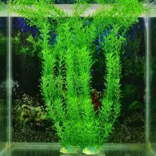 Aquarium Plastic Fish Tank Decor Floral Water <b>Green Grass Plant</b> ...