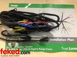electrical wiring harness bsa wiring harness BSA Cafe Racer at Bsa A65 Wiring Harness Routing