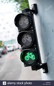 Green Light Cycle A Green Light At Traffic Lights On A Cycle Lane Geneva