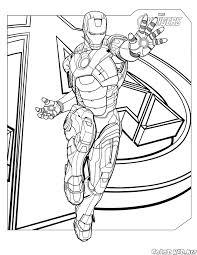 Disegni Da Colorare Uomo Dacciaio Con Immagini Da Colorare Iron Man