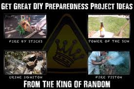 get great diy preparedness project ideas with the king of random