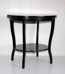 Massivholz Tisch Beistelltisch Teetisch Oval 57 Holz Massiv Schwarz