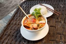 Photo Of Tom Yam Seafood Soup Served ...