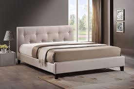 Amazon.com: Baxton Studio Annette Linen Modern Bed with ... & Amazon.com: Baxton Studio Annette Linen Modern Bed with Upholstered  Headboard, Light Beige, Queen: Kitchen & Dining Adamdwight.com