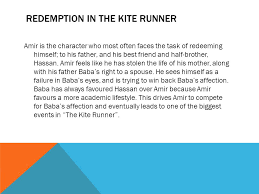 "the kite runner and the theme of redemption ""baba"" by sam carson  3 redemption in the kite runner"