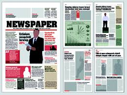 Newspaper Psd Template Download Typesetting Newspaper Vector Templates 03 Free Download