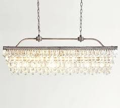 clarissa chandelier crystal drop rectangular chandelier pottery barn with rectangle light fixture ideas clarissa glass drop clarissa chandelier glass drop