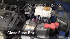 blown fuse check chevrolet aveo chevrolet aveo ls 6 replace cover secure the cover and test component
