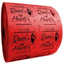 2 part raffle tickets queen of hearts raffle tickets usa gaming supplies