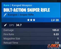 Fortnite Battle Royale Bolt Action Sniper Rifle Orcz Com