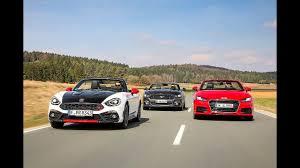 Ford Mustang vs Fiat Abarth 124 Spider vs Audi TT Roadster - YouTube