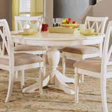 dining room 48 inch round table gloss acrylic gray padded side chairs polished brown wood