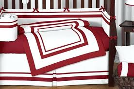 black and red crib bedding sets tractor baby
