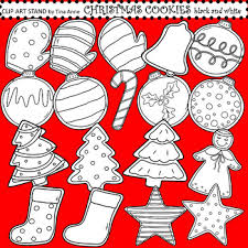 christmas cookie clip art black and white. Wonderful White Clip Art Christmas Cookies Black And White With Cookie Black And White A