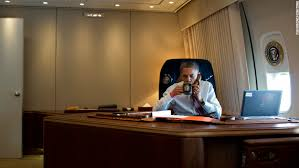 air force one office. President Barack Obama Convenes A Conference Call To Discuss The Response Hurricane Sandy In His Air Force One Office