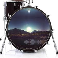 Bass Drum Skin Design Moonglow Graphic Drum Head Art All Styles And Sizes