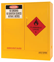 Yellow Flammable Cabinet Safe T Store Flammable Liquid Storage Cabinet 160 Litre Capacity