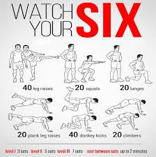 Six Pack Abs Workout Chart Watch Your Six Health Fitness Sixpack Routine Training Plan
