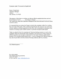 Complaint Letter To Tenants Templates At