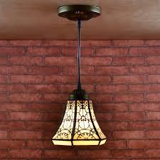 Us 490 30 Offeuropese Tiffany Stijl Retro Gebrandschilderde Hanglamp Balkon Gangpad Veranda Gang Kleine Badkamer Opknoping Lamp In Europese