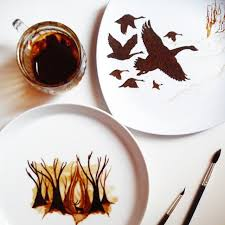 The metal used will most likely be copper or bronze so that the color can match usual coffee. Coffee Leaf Paintings Created With Morning Coffee Leftovers Bored Panda
