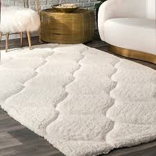 nuloom handmade trellis soft and plush solid white rug 8 6 x 11