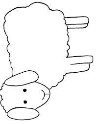 Kleurplaat Schaap Lammetje Kleurplaat Pasgeboren Lammetje Afb 3738