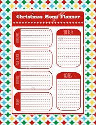 menu planner templates sample example format christmas menu planner vector format template
