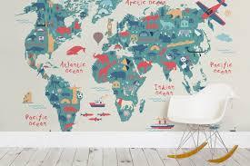 little landmarks map room neutral