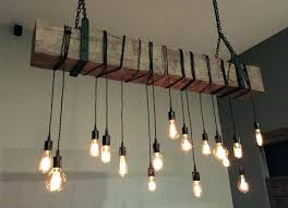 exposed light bulb chandeliers chandelier barn beam fixture with wrapped lights bulbs exposed light bulb