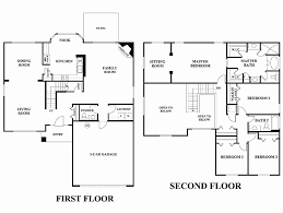 two story home floor plans new simple 5 bedroom house plans 2 story house floor plans