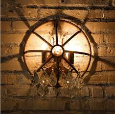 vintage metal wall sconce lamp retro rustic bar pub art deco rust wall light fixture